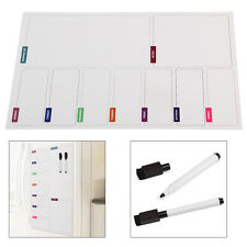Fridge Notice A3 Board Magnetic Memo Daily Meal Planner Whiteboard With 2 Pens