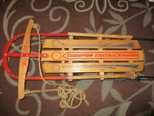 Gladding Champion Fastback Vintage Rail Sled Floating Steering Holiday Decor