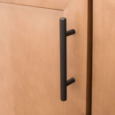 "Matte Black Bar Cabinet Pull 96mm Center-to-Center 15cm 5.9"" Total Length"