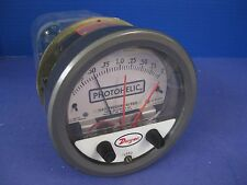 "Dwyer 3002C Photohelic Gauge 0 to 2"",  Used"