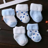Cotton Thick Baby Toddler Socks Autumn and Winter Warm Baby Foot Sock 5 Pair/lot
