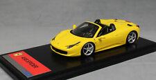 Fujimi Resin Collection Ferrari 458 Spider in Yellow 2012 FJM124321 1/43 NEW