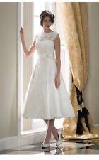 UK Sexy White/Ivory Short Wedding Dress Bridal Gown Size 6-18