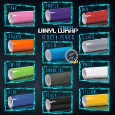 Premium Gloss Glossy Vinyl Wrap Car Vehicle Sticker Decal Film Air Bubble Free