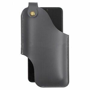 Men Genuine Leather 4.7inch~6.5 Inch Phone Bag Waist Bag Easy Carry Edc Bag