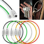 5PCS Hiking Stainless Steel Wire Keychain Camping Key Ring Cable High Quality