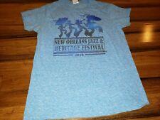 2016 JAZZ FEST NEW ORLEANS t-shirt-JAZZ HERITAGE FESTIVAL- ring-spun cotton
