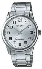 Casio MTP-V001D-7B Men's Standard Stainless Steel Easy Reader Silver Dial Watch