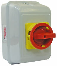 25A 3 Pole On-Off Rotary Isolator Switch IP55 Metal Enclosed