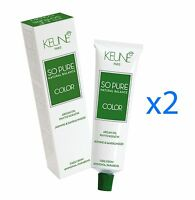 2 x Keune So Pure Hair Color (SELECT YOUR SHADES) 60ml each tube FREE SHIPPING