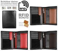 Herren Echtleder Geldbörse Nappa Leder Brieftasche RFID Geldbeutel Portemonnaie