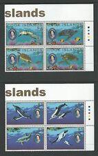 2007 Turtles & Whales in Corner Blocks of 4 Complete Mint Unhinged as per Scan