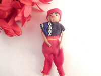 Miniature Doll South American Fabric Toy Hand Crafted Inca Trail Travel Souvenir