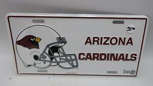 NOS VTG 1993 Metal Embossed Front License Plate Car Tag Arizona Cardinals NFL
