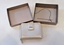 Giani Bernini Genuine Leather  Silver Wallet in Box