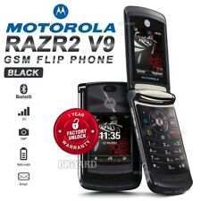 "Unlocked MOTOROLA RAZR2 V9 Black 2.2"" GSM 2G 2MP Bluetooth Camera MP3 Flip Phone"