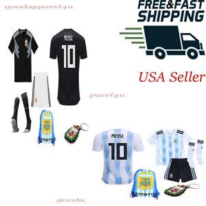 Argentina Messi Women Kids Jersey Kit Age 3 - 13 Yrs