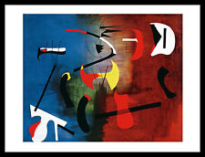 Joan Miro peinture poster image Art Impression avec Cadre Alu en Noir 60x80cm