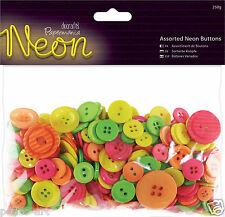PAPERMANIA couleurs lumineuses les tons fluo sac bouton boutons assortis 250 GRM