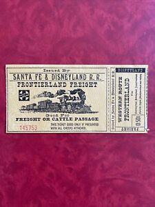Vintage Disneyland Santa FE Railroad Train Ticket Frontierland Freight 1950's