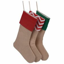 Delicate Socks Bag Christmas Gift Bags Canvas Socks Burlap Canvas Stocking
