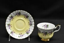 Royal Albert 4361 Purple Violets Yellow Center Cup & Saucer