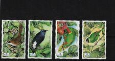 FIJI SG1200/1203, 2003 RAREST LAND BIRDS MNH