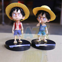 Anime One Piece Monkey D Luffy 14cm PVC Figure Model Toy Decoration Phone Holder