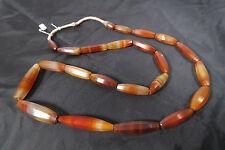 Alte feine Achatperlen Idar-Oberstein Antique Agate Stone trade beads Afrozip