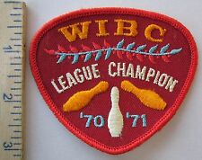 WWIBC BOWLING LEAGUE CHAMPION 1970-1971 - ORIGINAL Vintage PATCH