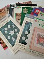 Cross Stitch Booklets Leaflets Patterns Lot of 12 NO Magazines Vintage