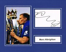 Signed Mark Albrighton Leicester City Mounted Card Photo Premiership Champions