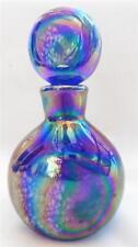 New listing Rare Irice I.W. Rice & Co. Blue/Purple Carnival Glass Perfume Scent Bottle Euc