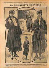 Robes Manteaux taille mince fine cambrée Hanche Mode Paris Fashion WWI 1916