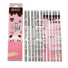 dotcomgiftshop PACK OF 12 PINK PANDA HB PENCILS WITH ERASER
