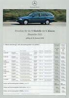 4088MB Mercedes C-Klasse T-Modell Preisliste 2000 31.1.00 C 43 AMG 280 240