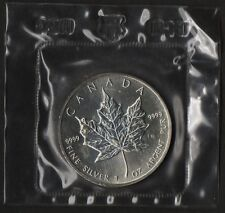 CANADA 5 DOLLARI  ARGENTO SILVER MAPLE LEAF 2005  1 Oz. MINT SEALED FOGLIA ACERO