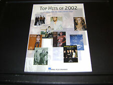 Top Hits of 2002 Piano Vocal Guitar HERO Enya USHER Song Book New Old Stock