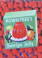 VINTAGE STYLE RETRO METAL PLAQUE: Rowntree's Jelly Ad SIGN