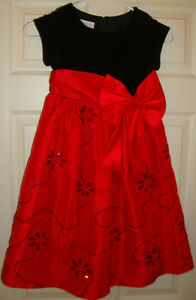 BONNIE/JEAN~girl's~GORGEOUS/CHRISTMAS/SEQUINNED/DRESS! (6) BRAND/NEW! @@ NICE!