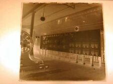 Antique GLASS negative - PHOTOGRAPHIC, c1910 era INSIDE Early Electric Plant