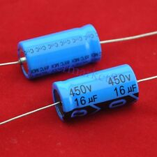 9PCS Axial Electrolytic Capacitor 16uf 450V Tube Amp DIY