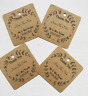 Personalised square wedding thank you favour tag rustic/vintage/brown craft card