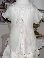 MARITHE et FRANCOIS GIRBAUD Girls Silk Blouse size 6 years new with tags