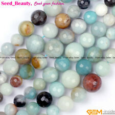 """6-12mm Gemstone Mixed Color Amazonite Beads for Jewelry Making Strand 15"""""""