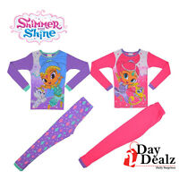 NICKELODEON GIRLS SZ 10 SHIMMER & SHINE 4-PC PAJAMA SET SLEEPWEAR 21HI034GLLDZ