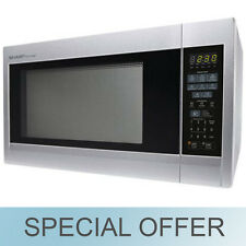 Sharp 1.8-Cu.-Ft. 1100 Watt Microwave / Oven Stainless Steel - R-551ZS