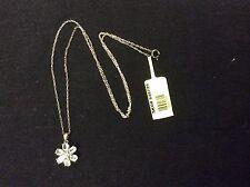 Paraiba Apatite & Diamond Pendant Platinum Overlay Sterling Silver & fine Chain