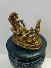 Brass metal  lord vishnu and lakshmi laxmi 2.5 inch height  USA Seller fast ship