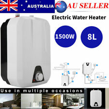 8L Mini Instant Electric Water Heater Tankless Shower Hot Water System Kitchen A